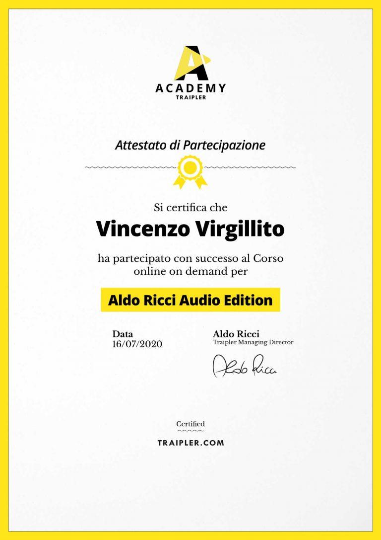 AttestatoAcademy_Aldo-ricci-audio-edition