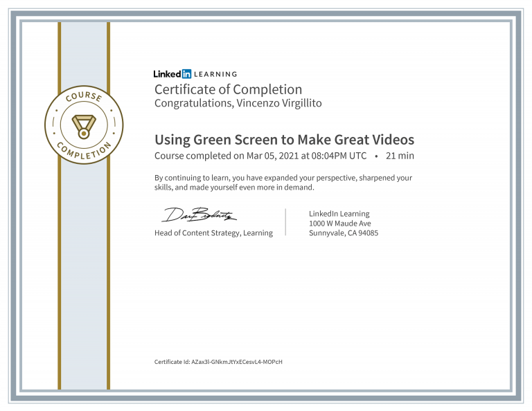 CertificateOfCompletion_Using-Green-Screen-to-Make-Great-Videos