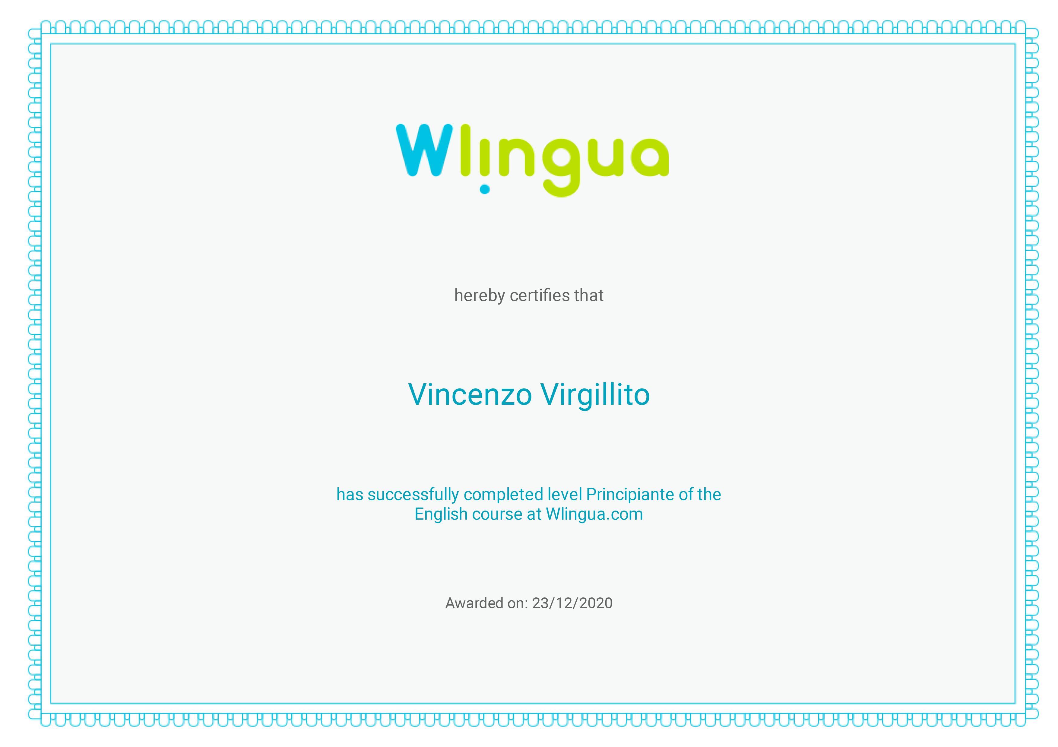 Certificato-Wlingua-A1